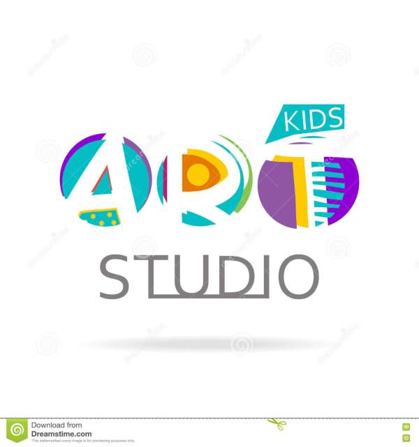 Logo Design Template Kids Art Studio School