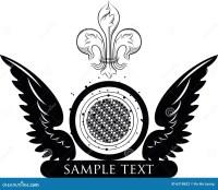 Logo with emblem design stock illustration. Illustration