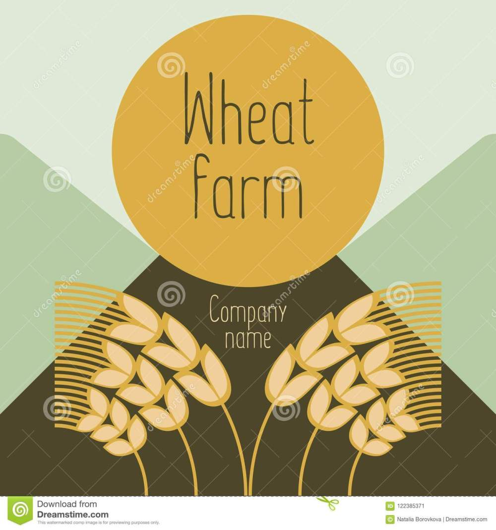 medium resolution of logo with grain ears for the food grain company the label for registration of