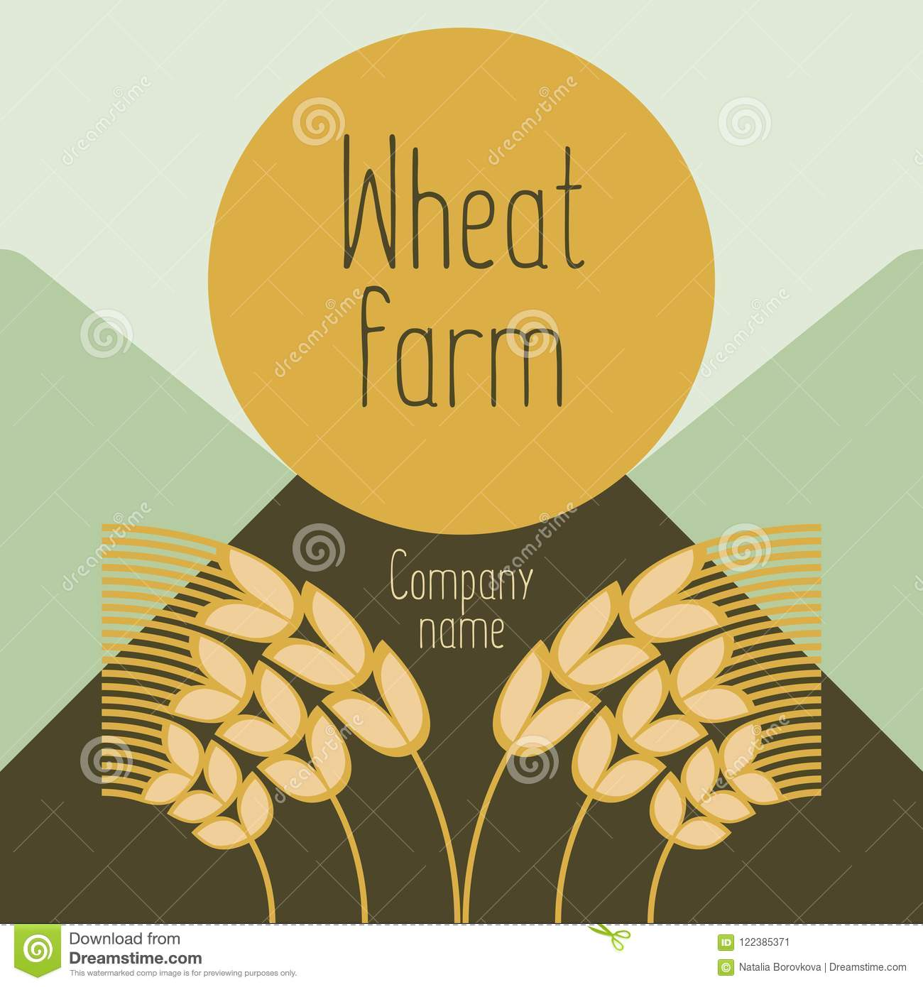 hight resolution of logo with grain ears for the food grain company the label for registration of