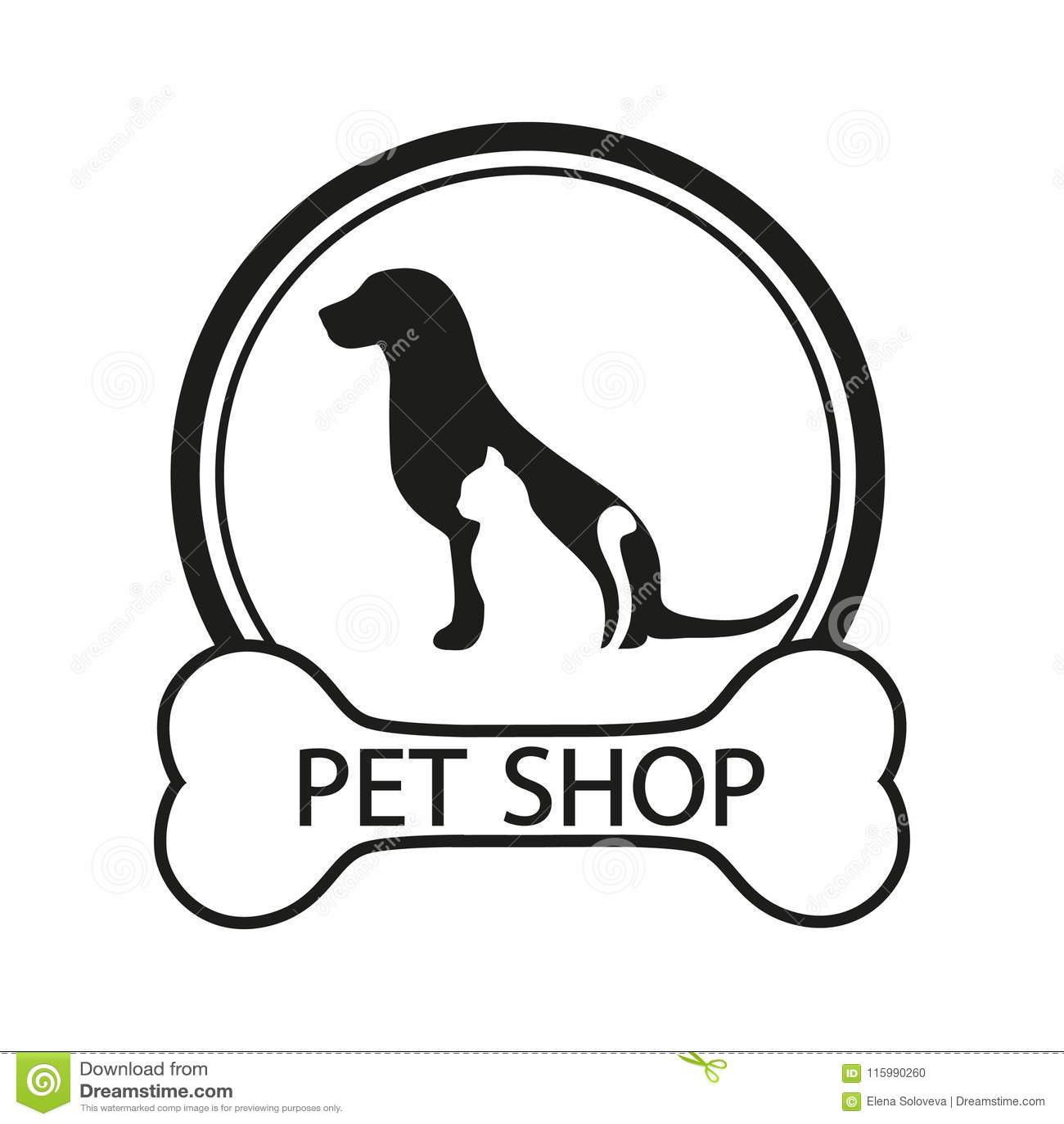 Logo For Pet Shop Veterinary Clinic Animal Shelter