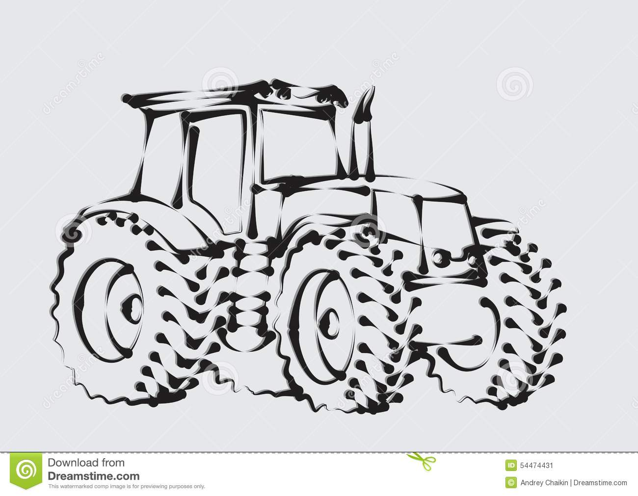 Logo Tractor Stock Vector Illustration Ofsel