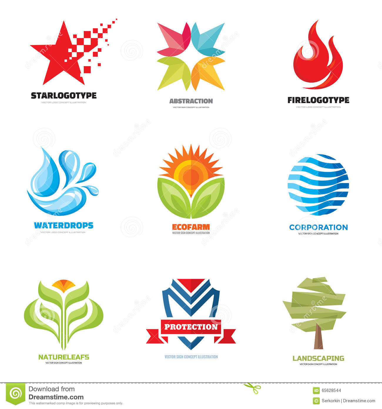 logo vector set creative