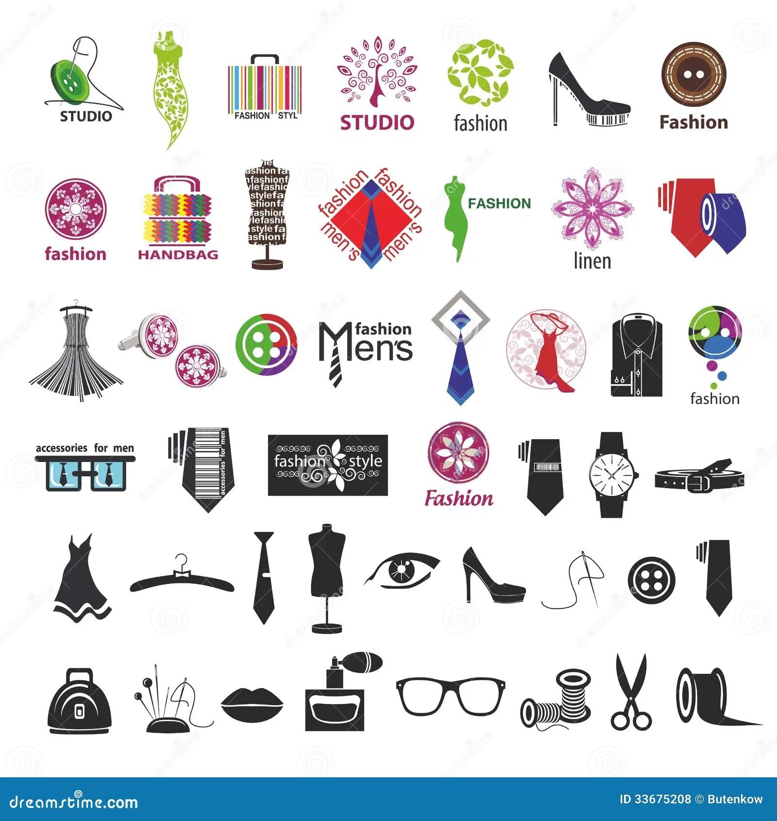 Logos Di Vettore Per Abbigliamento E Gli Accessori Di Modo