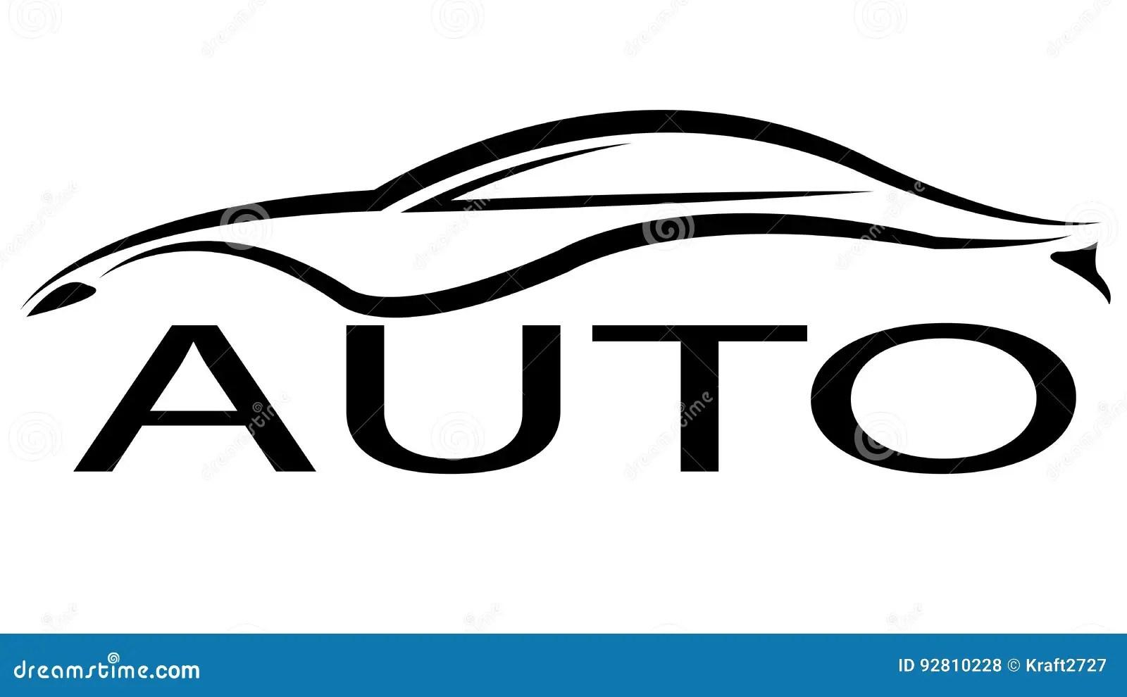 Logotipo Auto Negro Ilustracion Del Vector Ilustracion De