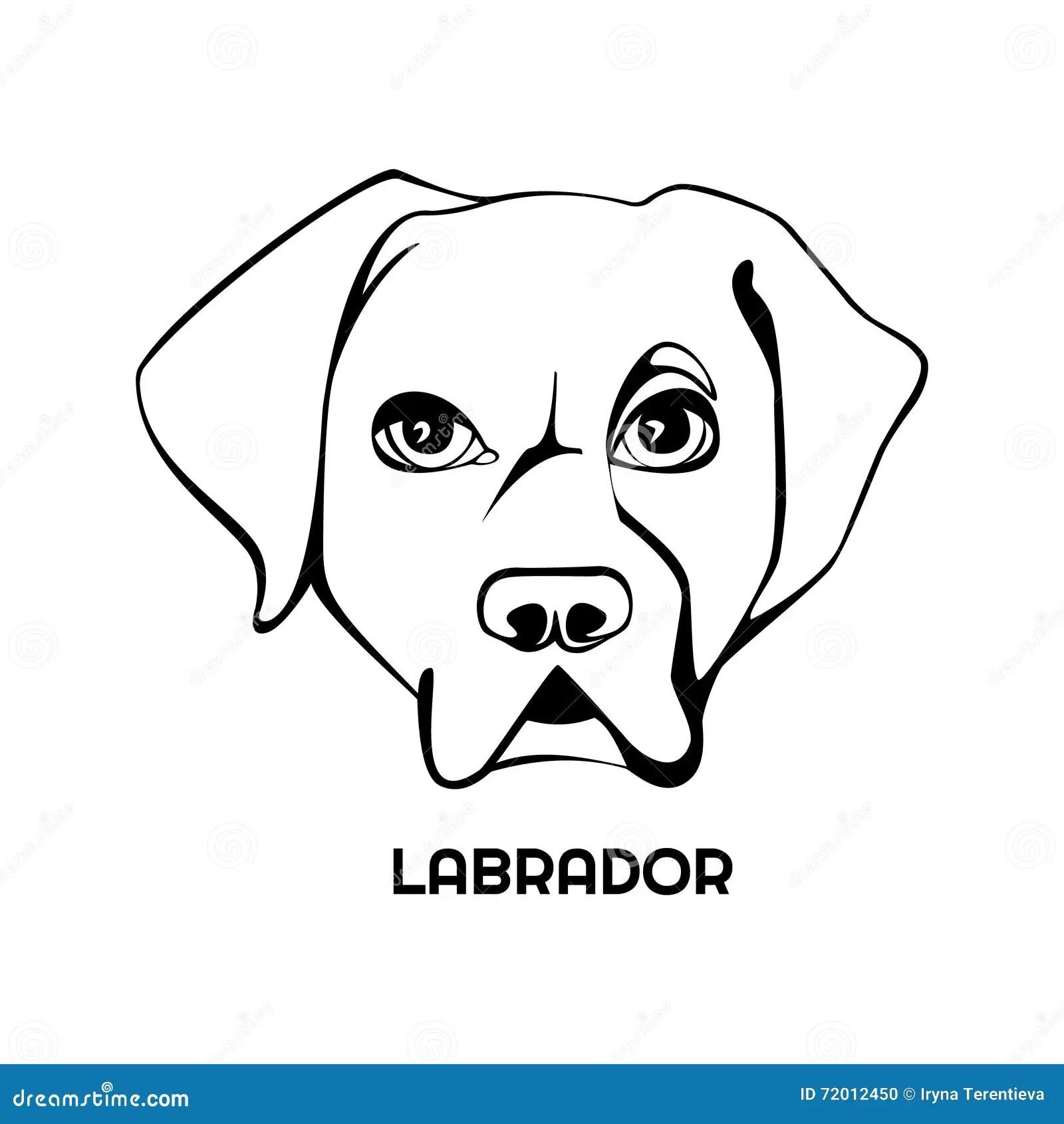 Logotipo De La Cabeza De Perro De Labrador Ilustración del