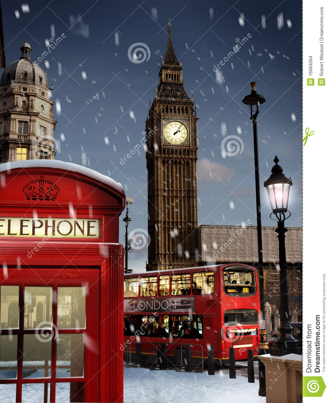Iphone 5 Falling Snow Wallpaper London At Christmas Stock Images Image 16684094