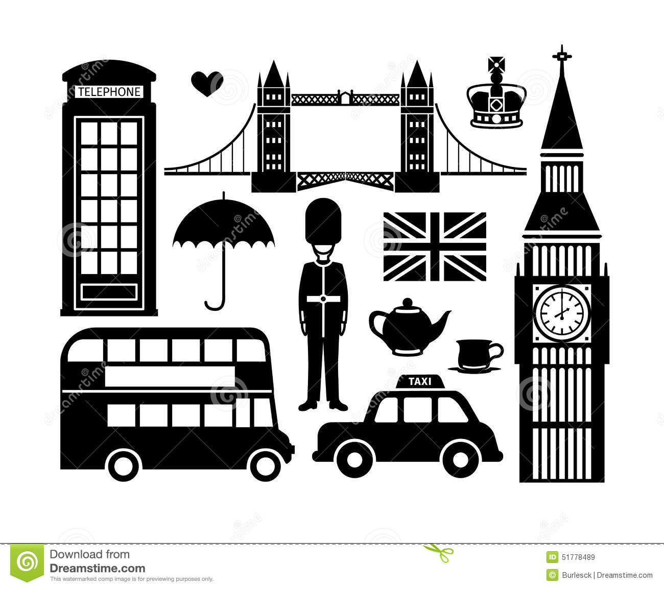 London Icons Stock Vector Illustration Of Royal Icon