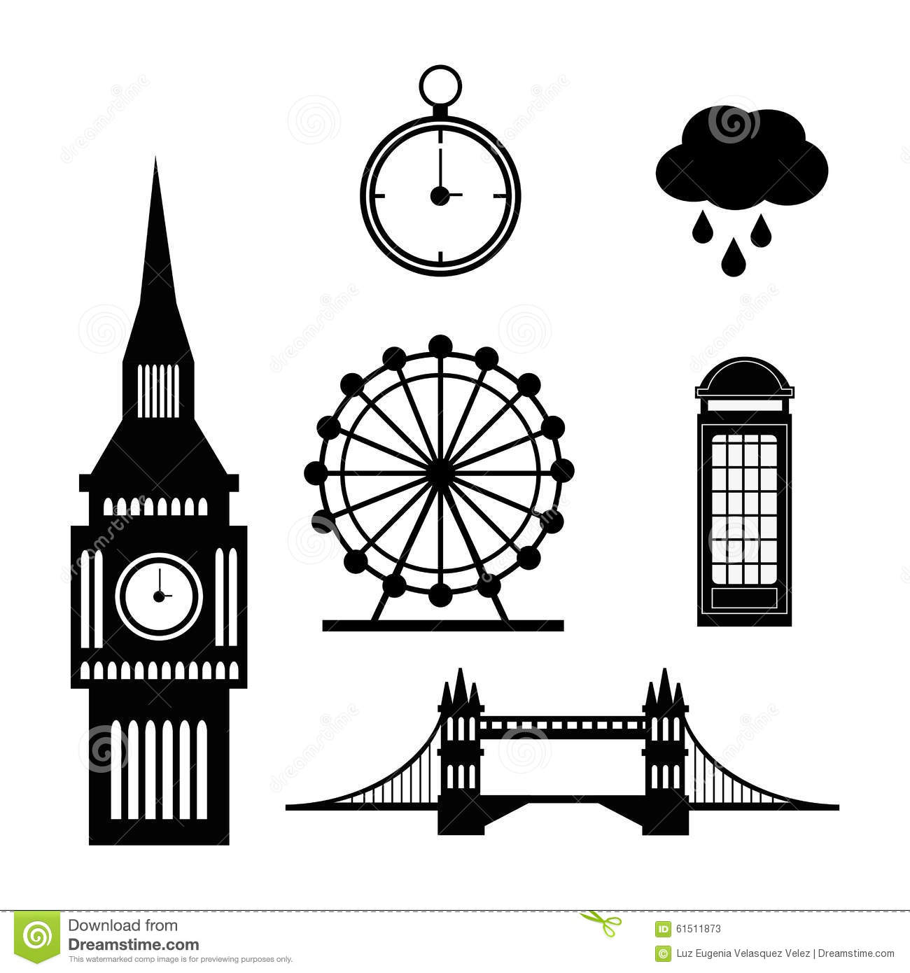 London Landmarks Design Stock Vector Image Of British
