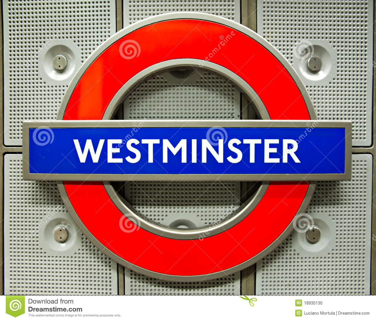 London Underground Logo At Westminster Station Editorial