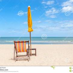 Beach Chair And Umbrella Clipart Poang Review Lonely Sun On Beautiful Beach. Stock Photo - Image: 44397167