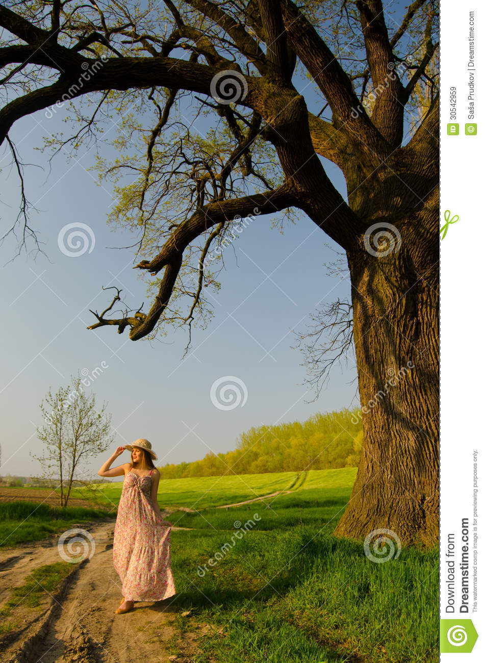 Long Walk On Countryside Royalty Free Stock Images Image