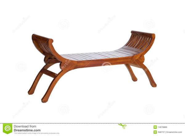 Long wooden chair stock photo Image of brown home wood