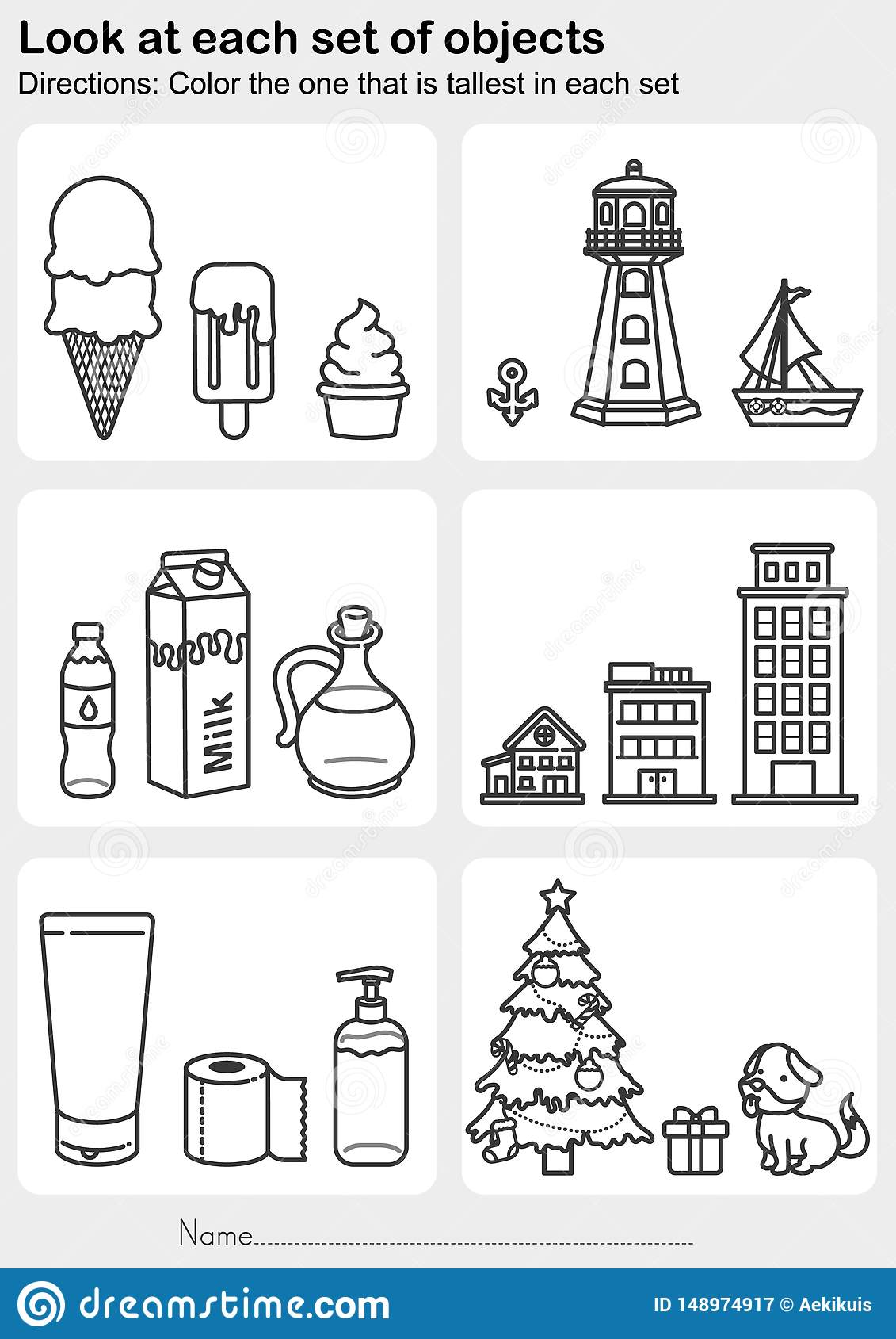 Look At Each Set Of Objects