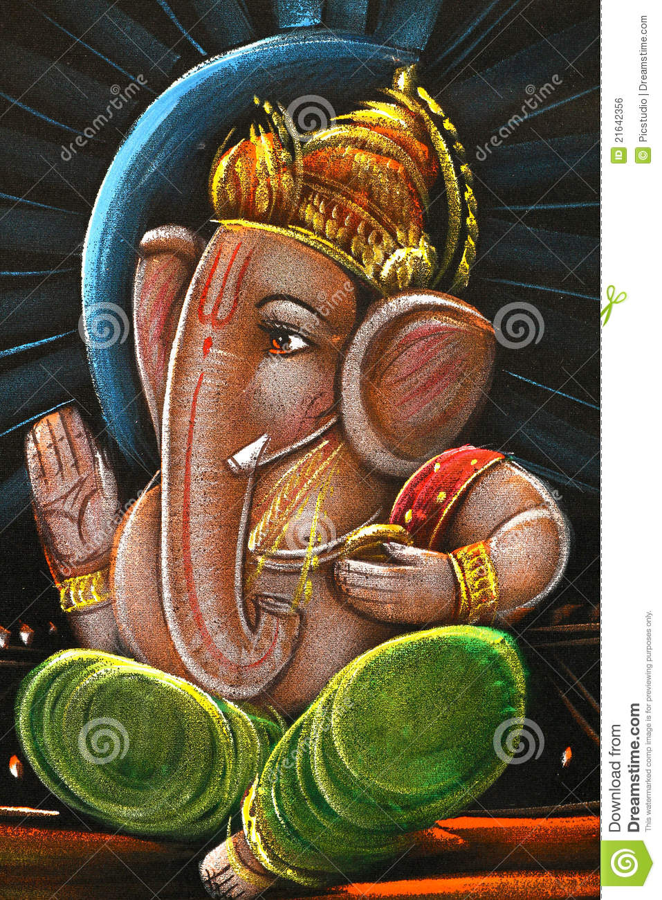 Lord Ganesha Oil Painting Editorial Photo Image 21642356