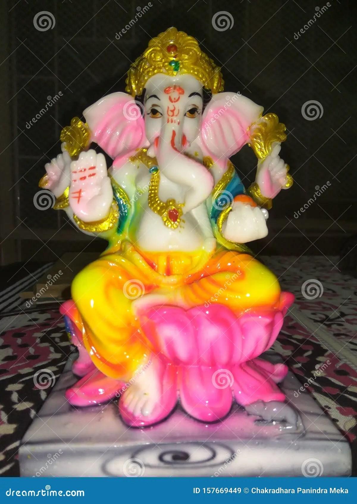 Lord Vinayaka Ganesh Idol With Focus Stock Image Image Of Motor Numerous 157669449