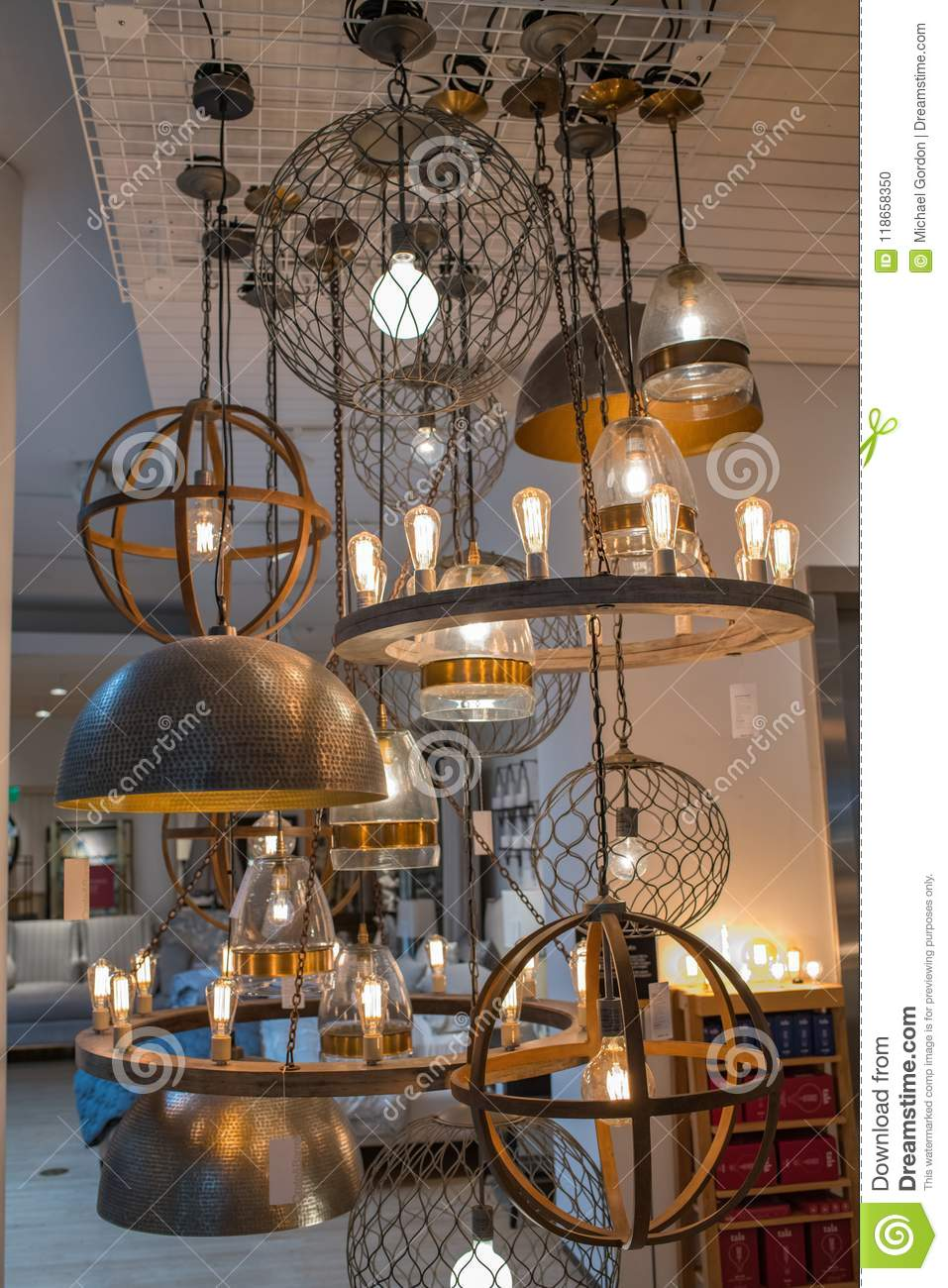 https www dreamstime com los angeles ca june interior crate barrel store crate barrel wholly owned otto gmbh which based germany image118658350