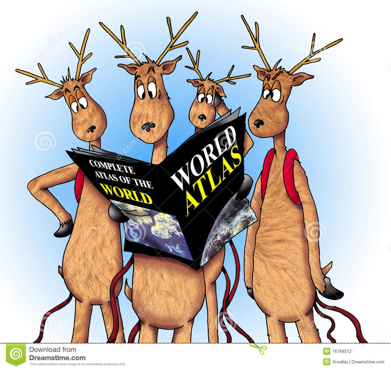 Lost Reindeer Stock Photography Image 16768512