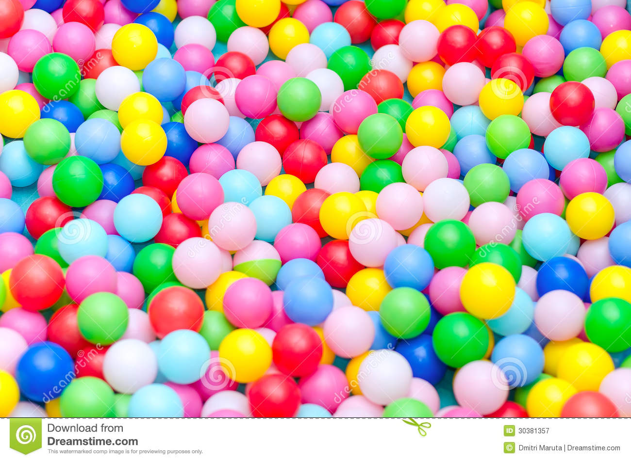 A Lot Of Coloured Plastic Balls Royalty Free Stock