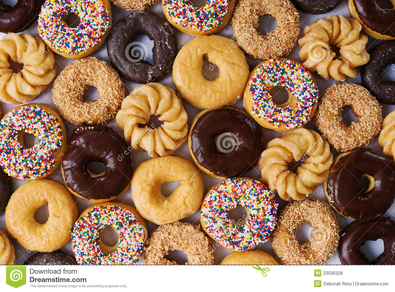 Lots of donuts stock photo Image of food glazed