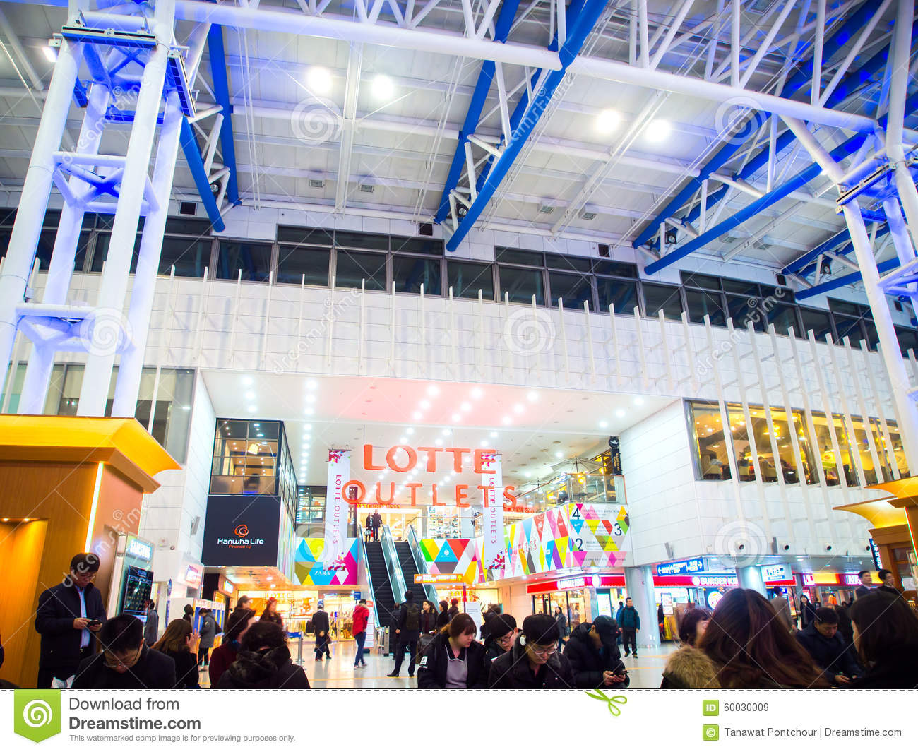 Lotte Outlets Mall In Seoul Station. Korea. Editorial Stock Image - Image of south. center: 60030009