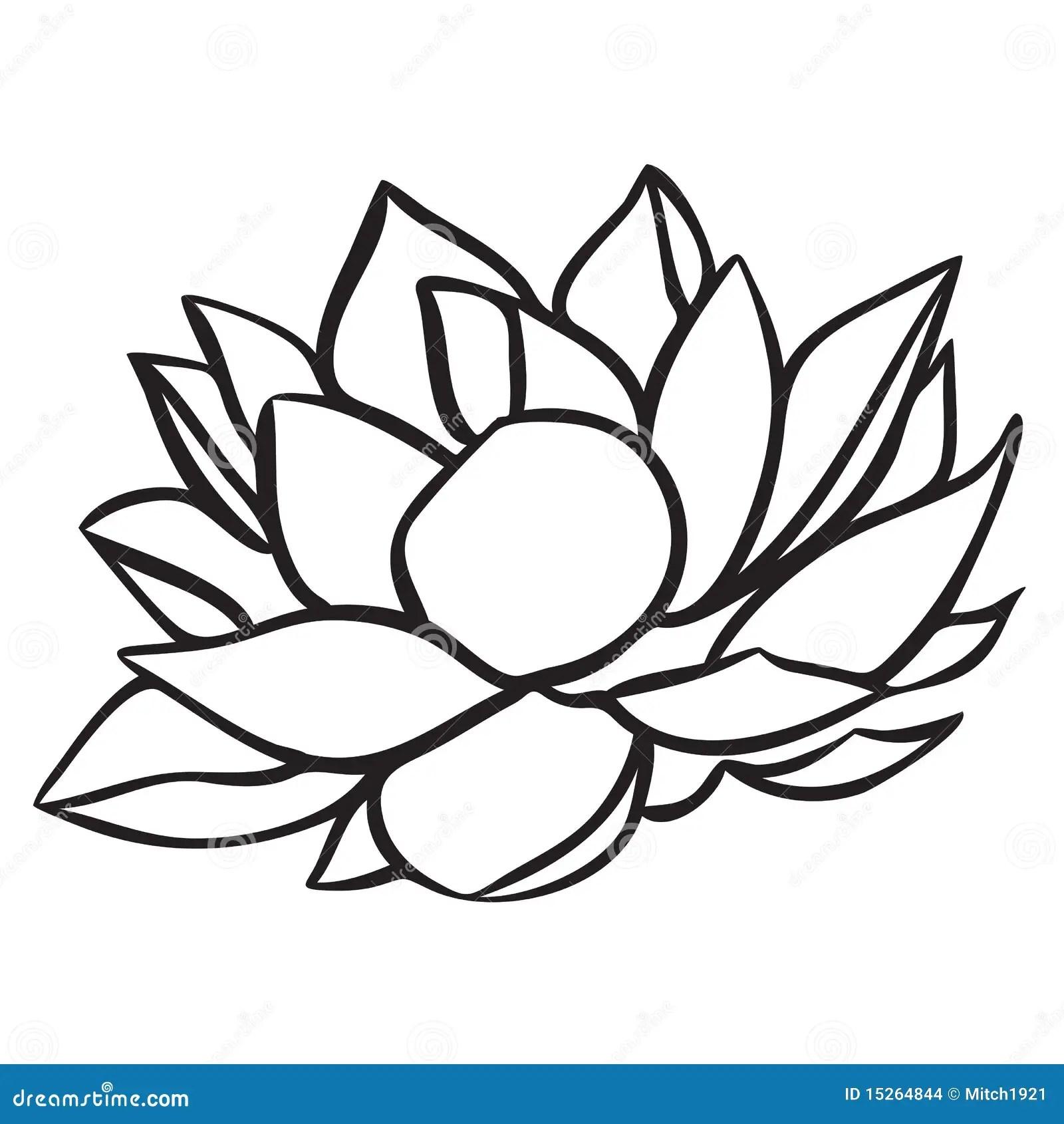 Lotus vector illustratie. Illustratie bestaande uit