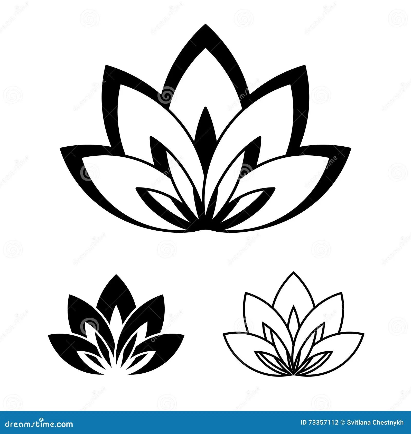 Lotus Bloem Als Symbool Van Yoga Vector Illustratie