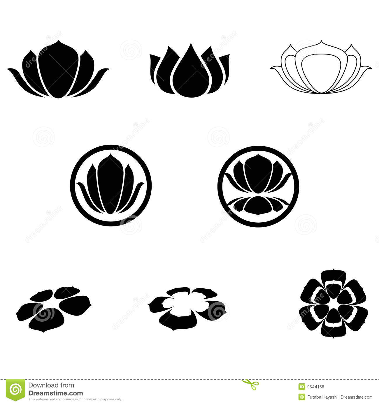 Lotus Icons Stock Vector Illustration Of Serenity Yoga