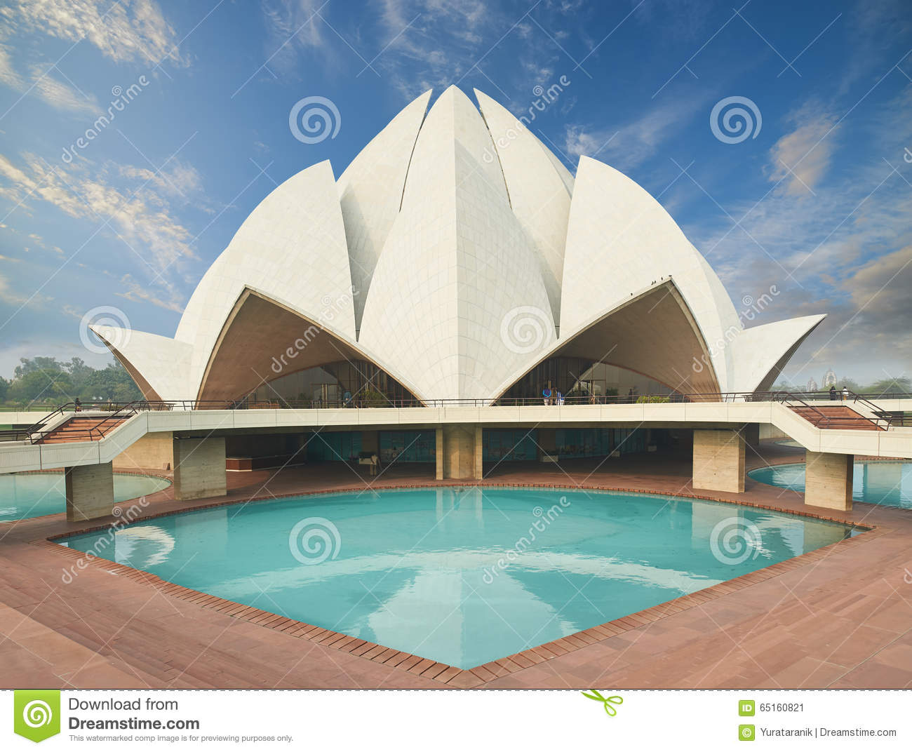 the lotus temple located