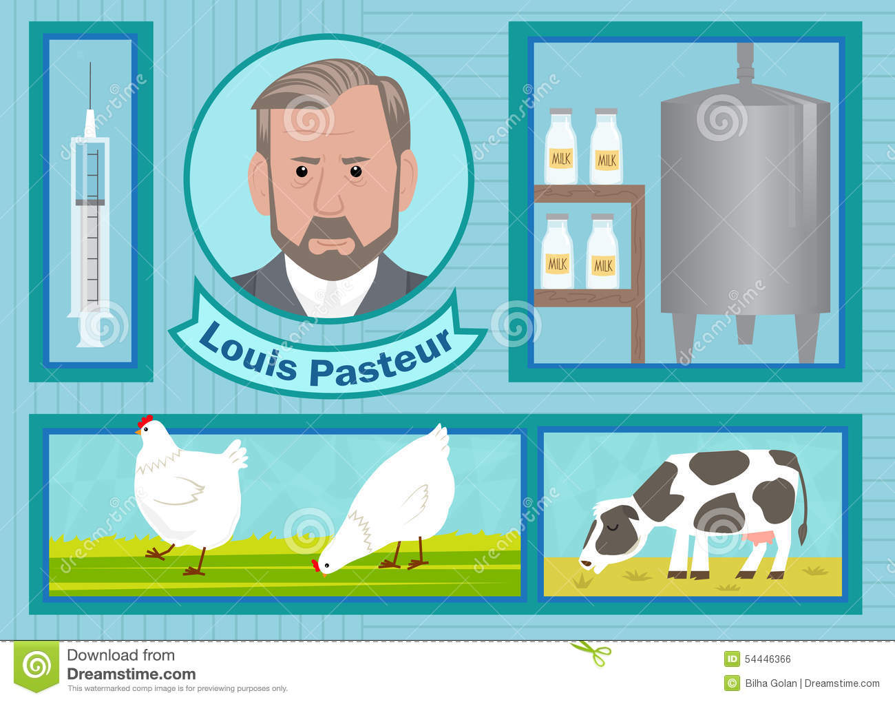 Louis Pasteur Stock Vector Illustration Of Chemistry