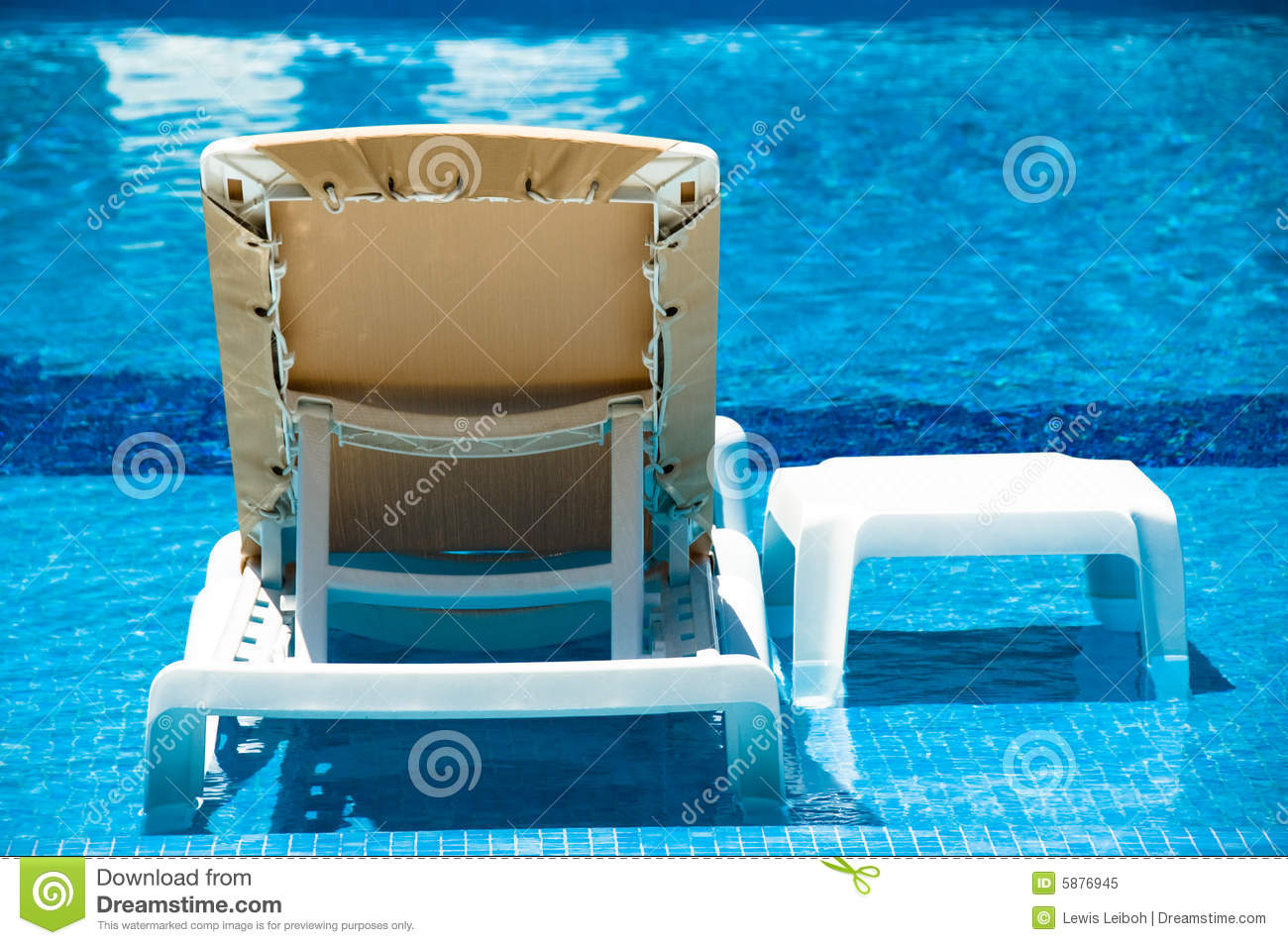 water lounge chairs ikea kivik chair in the pool royalty free stock photo image