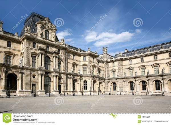 Louvre Courtyard Royalty Free Stock - 14147256