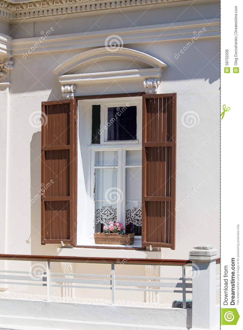 Louvre Shutters At A Home From Princes Islands Istanbul