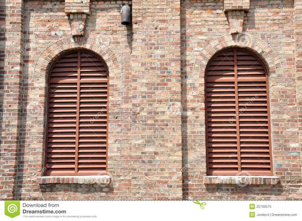 Louvre Windows Wall Royalty Free Stock - 25700575