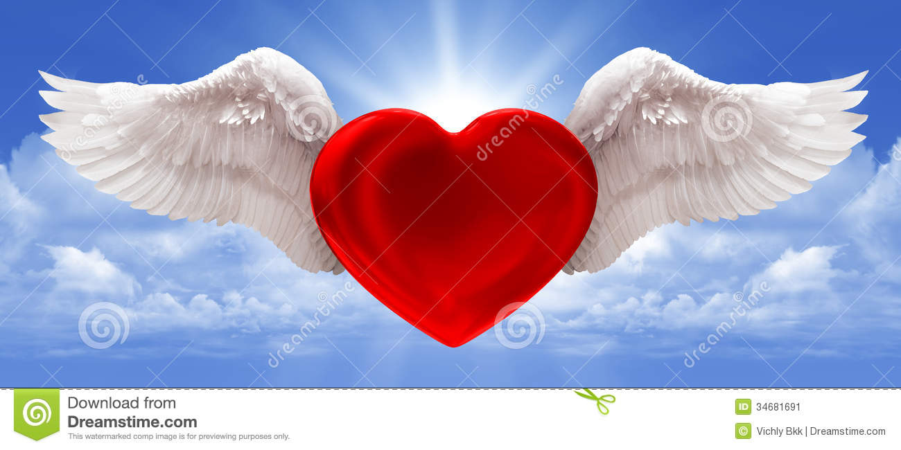 Love In The Air Blue Background Stock Image Image 34681691
