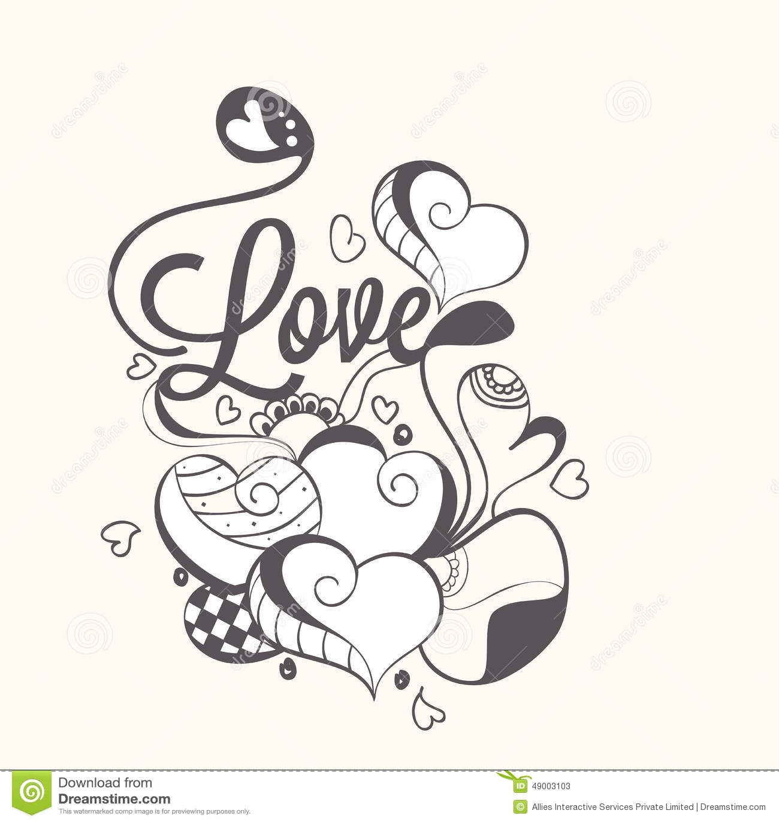 Love Card Design For Happy Valentines Day Celebration