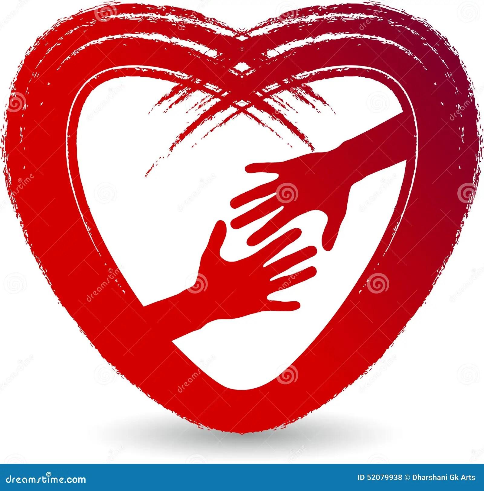 love care logo stock
