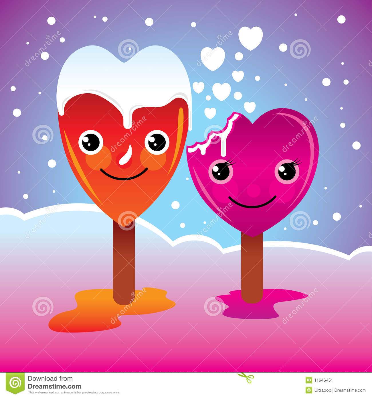 Cute Popsicle Wallpaper Love Cartoon Stock Vector Image Of Married Card Love