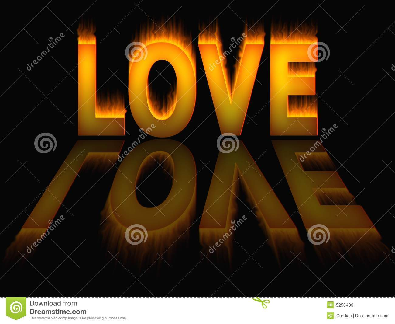 Love Flames Fire Background Texture Stock Illustration