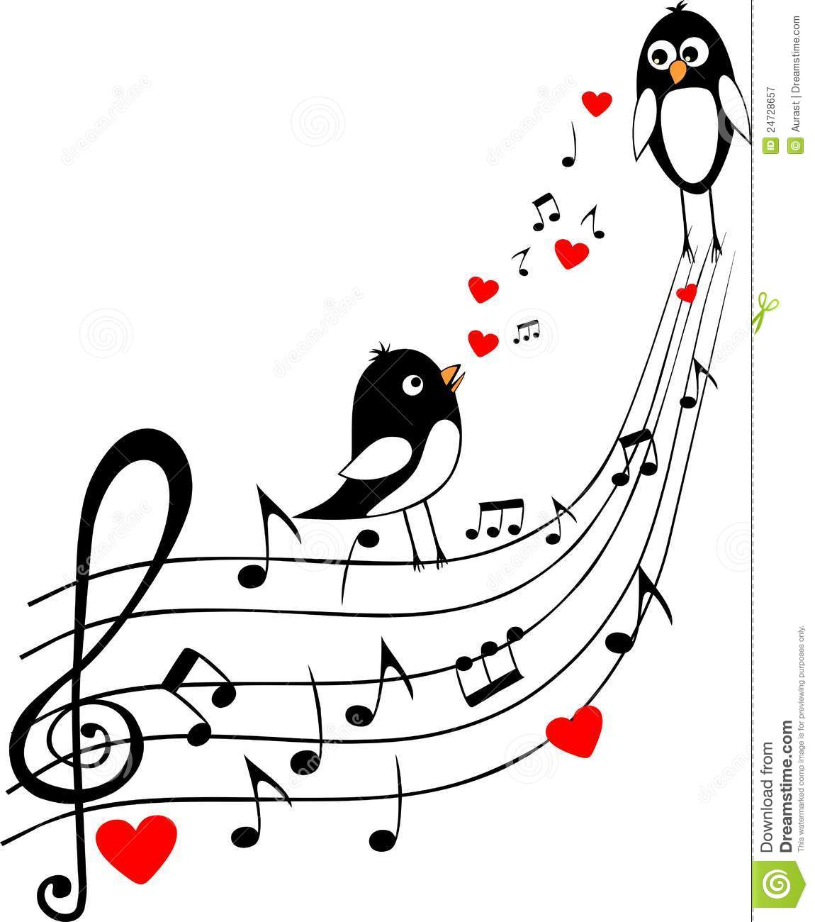 Love Score With Two Black Birds Royalty Free Stock