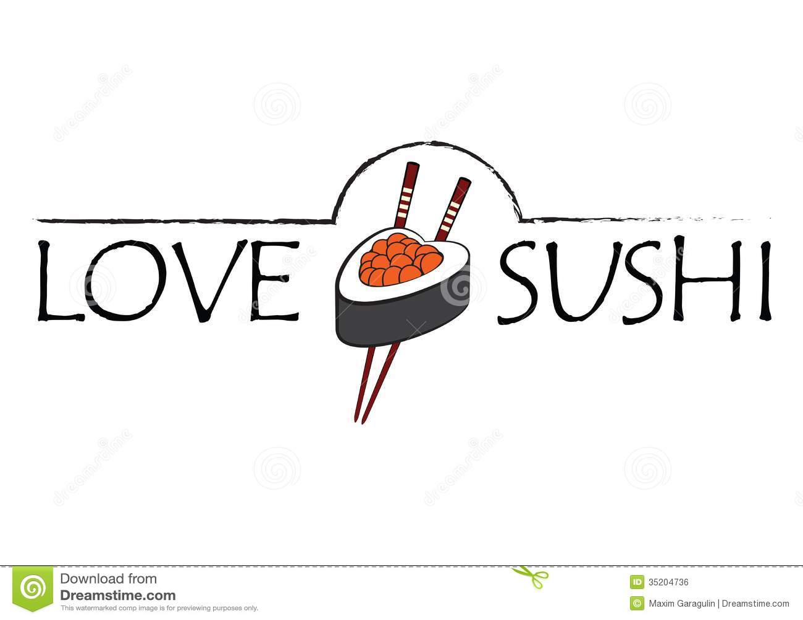 Love Sushi Icon Royalty Free Stock Image
