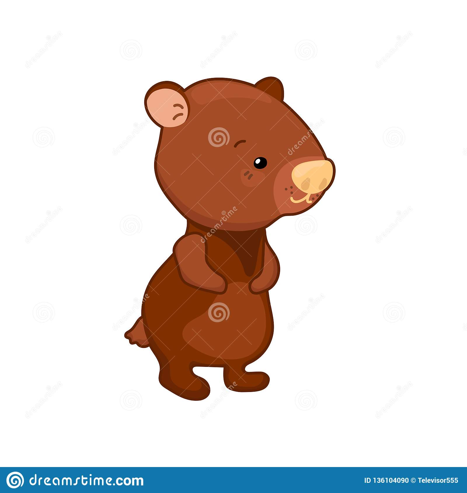hight resolution of lovely bear illustration on white background woodland animal icon cute brown bear clipart