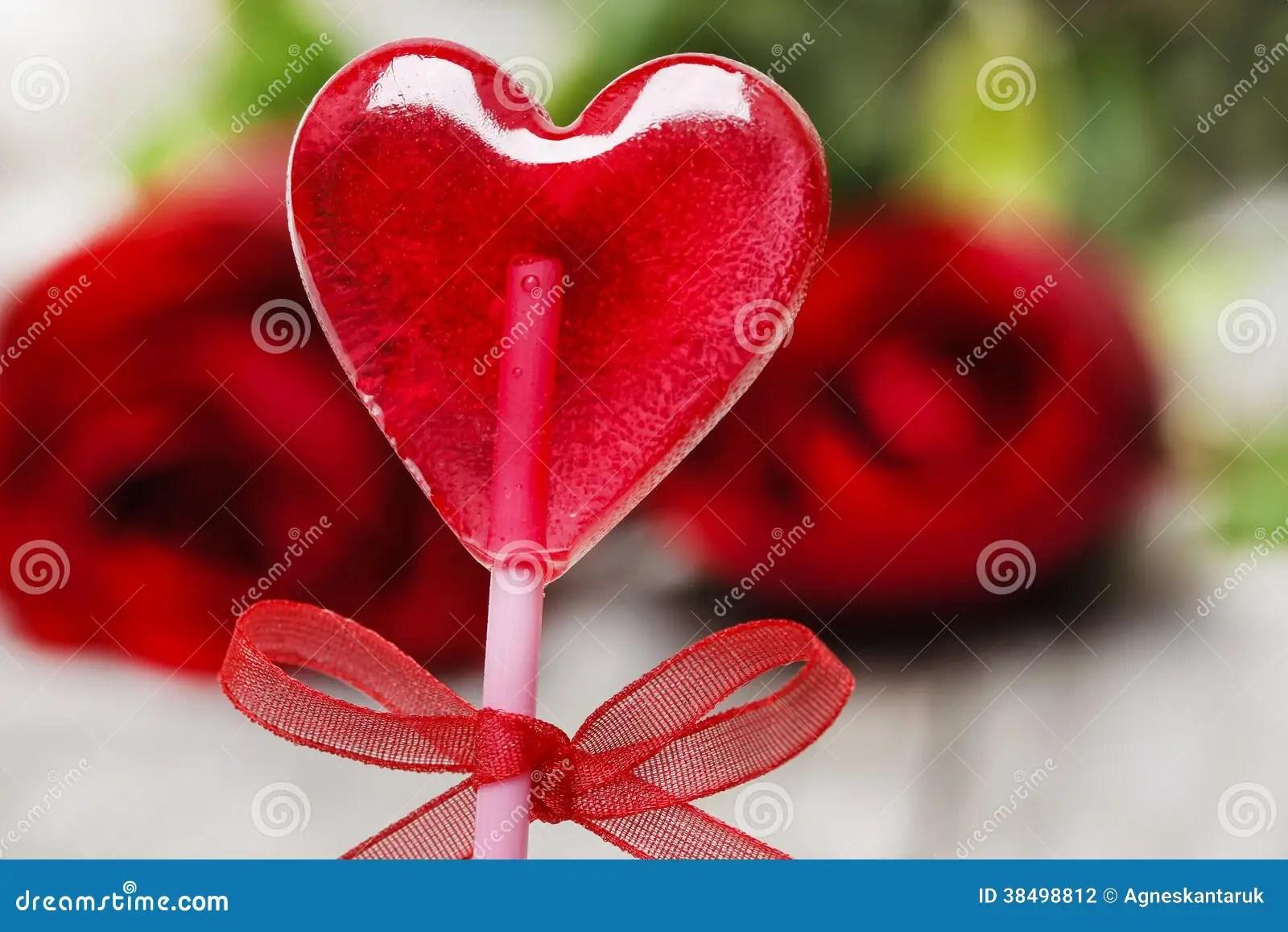 lovely red lollipop in