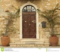 Lovely Tuscan Front Door, Italy Royalty Free Stock Photo ...