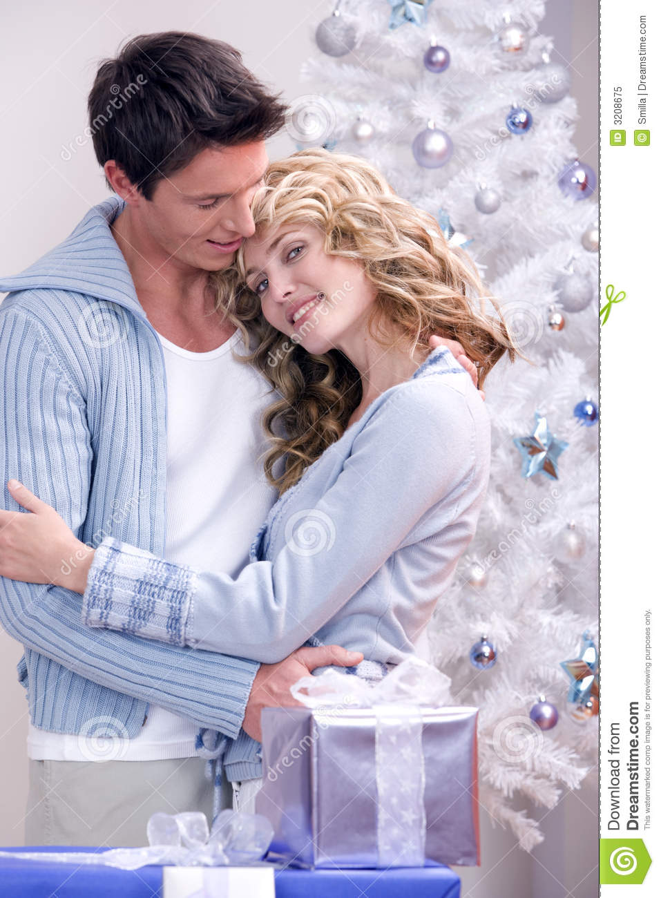 A Loving Christmas Couple Stock Image Image Of Time