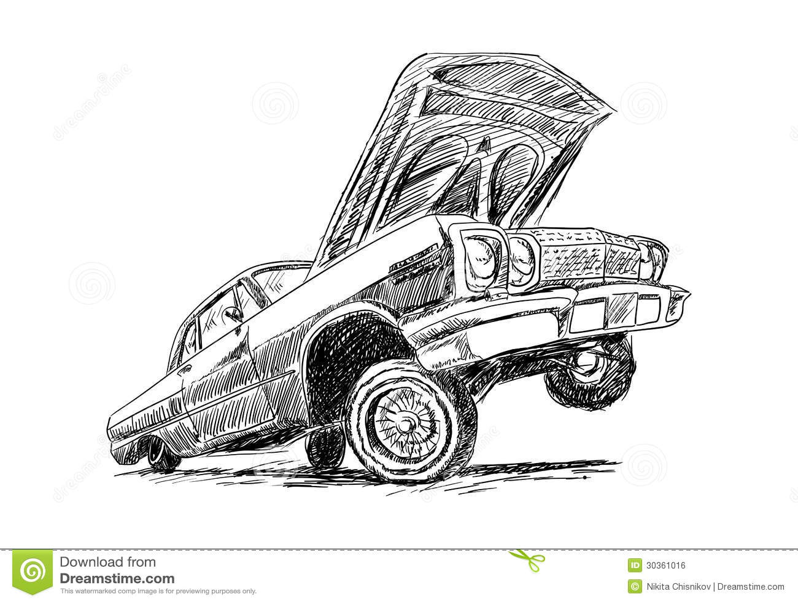 Lowrider ilustração do vetor. Ilustração de méxico