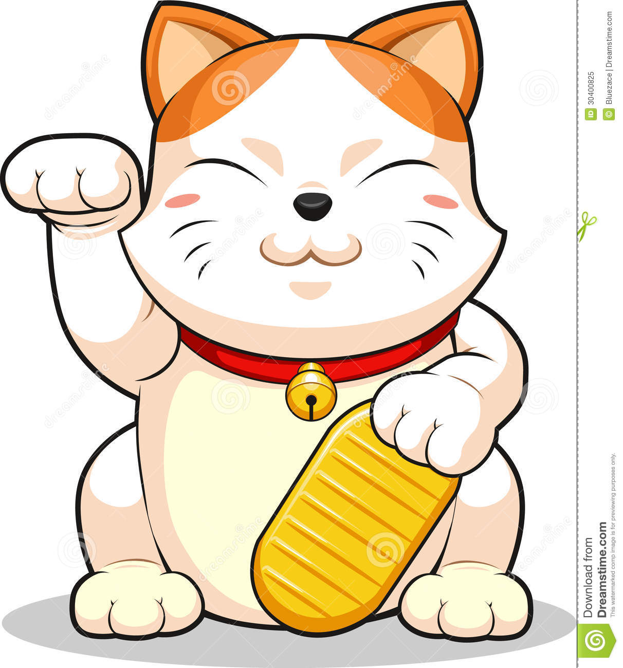 Wooden Japanese Lucky Cat Coloring Page Traditional Japanese