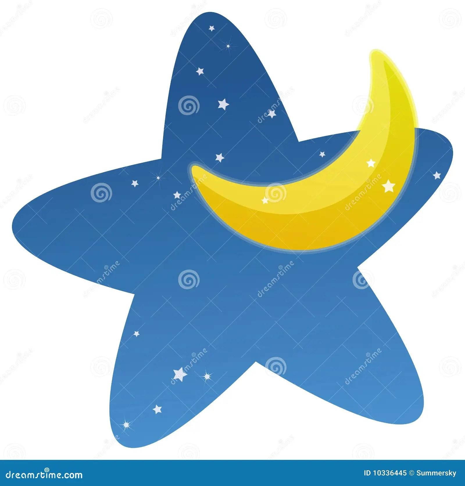 Luna e stelle illustrazione di stock Illustrazione di stagioni  10336445