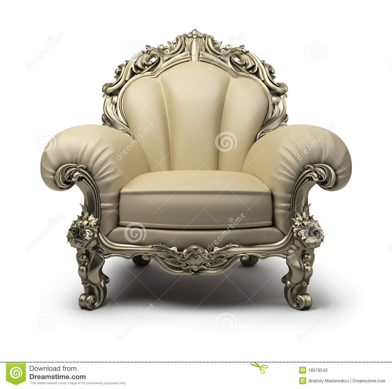 Luxurious armchair stock illustration. Image of place