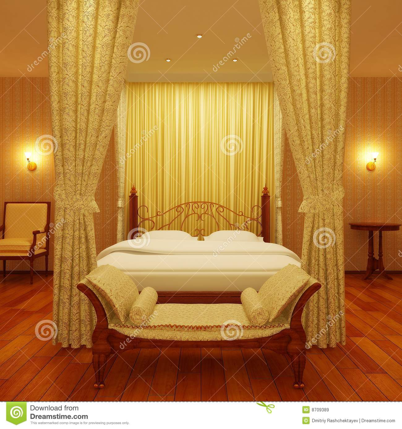Luxurious Four Poster Bed Royalty Free Stock Images